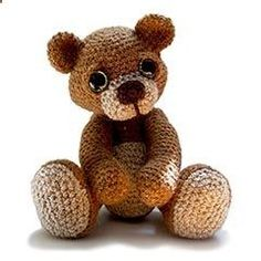 Theo the Teddy amigurumi crochet pattern by Patchwork Moose (Kate E Hancock)