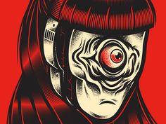 Robot Girl by Manuel Cetina  #Design Popular #Dribbble #shots