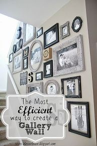 Splendid how to gallery wall pictures create efficient, home decor, wall decor (love that this one even has S's!) The post how to gallery wall pictures create efficient, home decor, wall decor . Diy Home Decor, Room Decor, My New Room, House Design, Create, Wall Pictures, Stairwell Pictures, Hanging Pictures On The Wall, Family Pictures