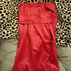 Lady and red beautiful dress beautiful song I can't look at this dress and not think about the song Lady in Red how romantic this dress is satin strapless backless size 16 really flattering on if you have any questions let me know the dress is pretty but you make it beautiful Dresses Prom