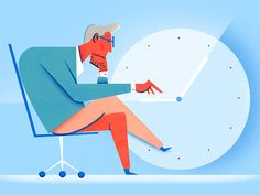 Another illustration for our blog. Check out the article below.    People spend half the day on unproductive tasks—here's how to fix it.