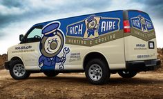 Logo design, and fleet branding truck wrap for this Union, NJ heating and air conditioning company.
