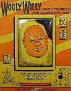 Do you remember this? This was soooo popular back when I was a kid. You could make this man look a million different ways, all with that magnetic black stuff!  it was cool!