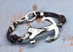 Anchor Bracelet - Inspirational Jewelry - Anchor Your Soul Bracelet - Handmade Jewelry. $76.00, via Etsy.