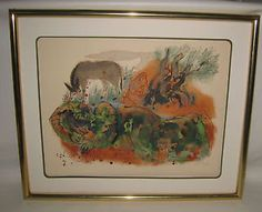 Reuven-Rubin-Family-with-Donkey-signed-Litho-83-200-Israeli-Art-Framed