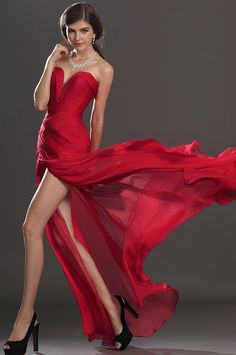 2014 New Style Sheath Column Sweetheart Sleeveless Floor-length Chiffon Evening  Dress - Evening Dresses - Special Occasion Dresses 0019b287502c