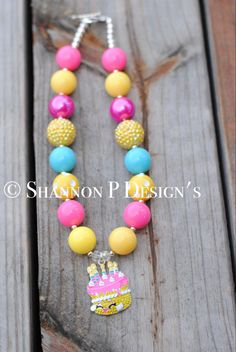 A personal favorite from my Etsy shop https://www.etsy.com/listing/465718403/wishes-chunky-necklace-shopkins-chunky