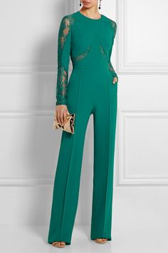 Teal crepe Concealed hook and zip fastening at back  52% rayon, 28% acetate, 13% cotton, 5% polyamide, 2% elastane; lining: 65% silk, 35% polyamide Dry clean Designer color: Emerald Green Lagoon