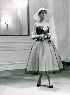 Love the hat and dress combo...Dior c1950   -love the hat