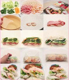 How to make a bacon belly and shrimp spring roll