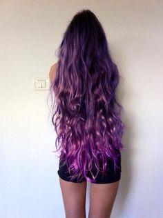 long purple mermaid hair, perfect