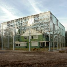 Former home of SS commander at Nazi concentration camp Westerbork in Holland is encased in glass by Oving Architecten as a memorial to second world war