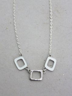 Modern Minimal Silver Delicate Reversible Necklace by JadeEclectic http://etsy.me/1sxUiC7 via @Etsy #Minimal #Silver #White #Necklace #Chain