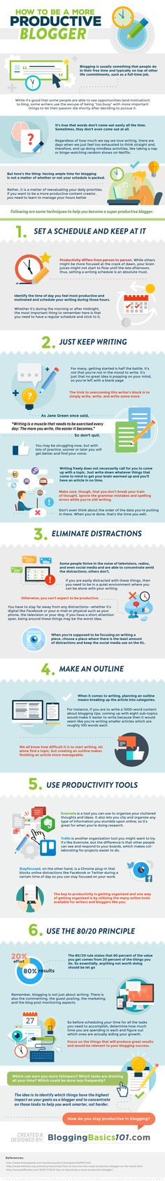 How to Become a Productive Blogger - infographic