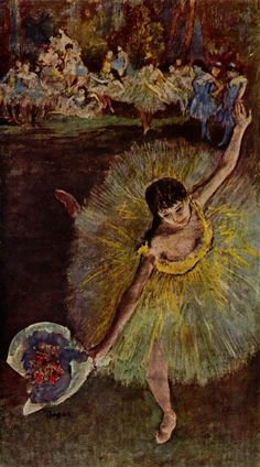 Dancer with a Bouquet Bowing - Edgar Degas - WikiArt.org