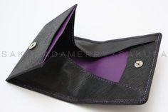 本革 メンズ小銭入れコインケース・紫