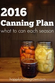 Want to know when the best time is to can? Check out my 2016 Canning Plan to see the possibilities, and get inspired to preserve your own food at home. Want to know when the best ti Canning Tips, Home Canning, Canning Rack, Pressure Canning Recipes, Canning Food Preservation, Preserving Food, Preserving Zucchini, Coconut Dessert, Canning Vegetables