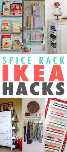 It's that time of the week…time to check out some more fabulous Hacks and today we have a fabulous collection of Spice Rack IKEA Hacks. I don't know about you…but I am totally amazed what a versatile accessory this is. You can use them for so many things from A Jewelry Organizer…to a Book Rack…to …