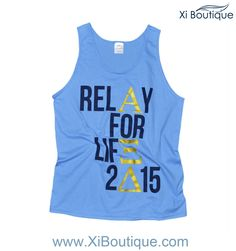 Xi Boutique Custom Order! Alpha Xi Delta Relay For Life Tank