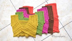 Paso a paso: 5 tallas de boleros mariposa tejidos a #crochet para damas!