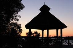 Bell Park Boardwalk in Greater Sudbury, Ontario, Canada