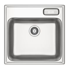 BOHOLMEN Single-bowl inset sink - 56x55 cm  - IKEA