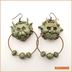 Knocker Earrings | Labyrinth Party | Polymer CLAY | BUZHANDMADE