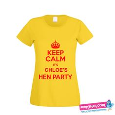 Keep Calm Hen Party T-shirt Hen Night Ideas, Hens Night, T Shirt Vest, Bethlehem, Personalized T Shirts, Keep Calm, Vests, Range, Party
