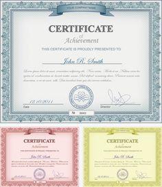 Plantilla de certificado europeo, Certificado, Certificado De Plantillas, Certificado De Diseño PNG y Vector