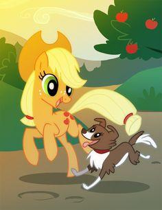 Applejack and Winona