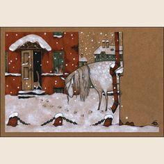 Снегопыт. Из набора Про Лошадь - Катя Бауман   Магазин открыток Cardspoint.ru