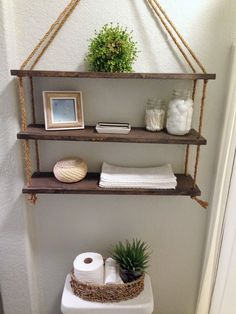24 DIY Bathroom Wall Shelves Design And Organization Ideas - DEXORATE Currently floating wall shelves are interesting in the world of interior design. This type of wall shelves can be placed in various rooms in your residence, such as in … Bathroom Wall Shelves, Wall Shelves Design, Diy Wall Shelves, Floating Wall Shelves, Diy Bathroom Decor, Diy Wall Decor, Diy Home Decor, Glass Shelves, Bathroom Storage