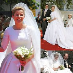 21 June 2008: Diana Alvares Pereira de Melo, 11th Duchess of Cadaval marries Prince Charles Philippe, Duke of Anjou.