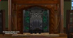 Mod The Sims - Art Nouveau Fireplaces and Surrounds