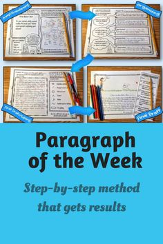 Writing good paragraphs is an essential skill, and one that takes time and effort to master. But it doesn't have to be hard. Here is a time-tested method for getting your students to write better paragraphs. #paragraphoftheweek #paragraphwriting #writing