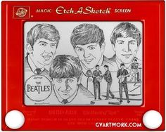 Etch A Sketch is a mechanical drawing toy invented by French inventor André Cassagnes and subsequently manufactured by the Ohio Art Company. An Etch A Sketch has a thick, flat gray screen in a plastic, distinctive red frame. There are two knobs on the front of the frame in the lower corners. Twisting the knobs moves a stylus that displaces aluminium powder on the back of the screen, leaving a solid line. The left control moves the stylus horizontally, and the right one moves it vertically.