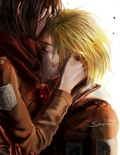 I don't ship it. I think it's cute, probably when they though Eren was dead and Armin couldn't stop crying.