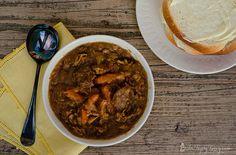 chicken sausage mustard stew