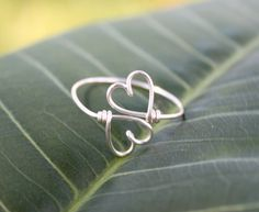 Wire Heart To Heart Ring  Double Hearts Ring by FabulousWire, $12.99