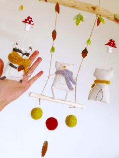 Perfect Woodland baby mobile Woodland nursery Animal baby by KMABRAY