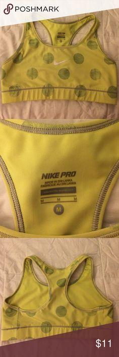 Nike pro sports bra Adorable Nike sports bra very comfortable size medium fluorescent yellow nike pro Intimates & Sleepwear Bras