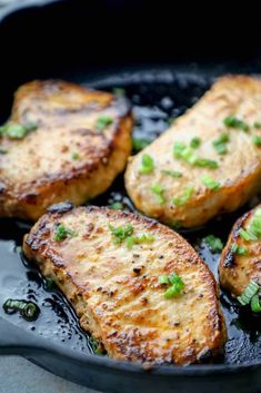 Easy Baked Pork Chops Recipe - tender juicy pork chops in under 20 minutes with simple ingredients - your family will beg for these pork chops all the time! Chicken Wing Recipes, Pork Chop Recipes, Cooking Boneless Pork Chops, Easy Baked Pork Chops, Slow Cooked Pulled Pork, Food Wishes, Food Challenge, Chops Recipe, Food Reviews