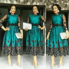 the aso ebi styles have come to stay, as far as there is an owambe or Short African Dresses, Short Gowns, African Print Dresses, African Print Fashion, African Fashion Dresses, African Wedding Attire, African Attire, African Wear, Elegant Dresses