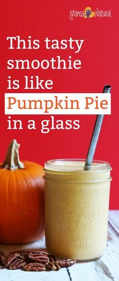 A thick, yummy pumpkin smoothie recipe that tastes like your mom's pumpkin pie…