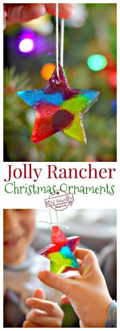 Melted Jolly Rancher Ornaments - A Fun Christmas Craft - Love these! Such a fun DIY for you to make with the kids. Homemade Christmas, Diy Christmas Gifts, Family Christmas, Holiday Crafts, Christmas Time, Homade Christmas Ornaments, Holiday Games, Christmas Cooking, Christmas Parties
