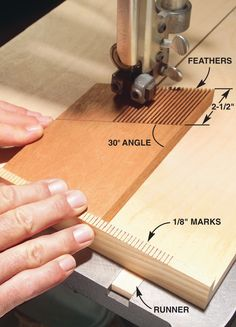 "Tips for Mastering Featherboards Featherboards are like having an extra set of hands in the shop, going where no fingers ever should. By Jock and Susan Holmen The featherboard gets its name from the rows of flexible ""fingers"" that act like a bird's feather and give way in one direction only. They help ensure safety and accuracy, because they keep consistent pressure on stock where it's needed most, close to …"