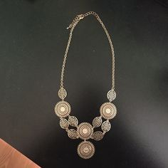 Gold fashion necklace Gold fashion statement necklace! Never worn! Perfect for a night out! Charming Charlie Jewelry Necklaces