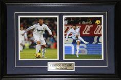 Cristiano Ronaldo Real Madrid La Liga Football Soccer 2 Photo Collector Frame
