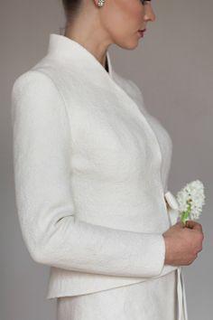 4e04db9e6293b8 Ivory Bridal Jacket Warm Elegant Bridal Jacket White | Etsy Spring Weather,  Bolero Jacket,