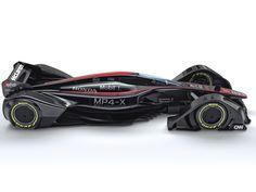 McLaren MP4-X Concept. Un vehículo de carreras concepto de alto rendimiento.